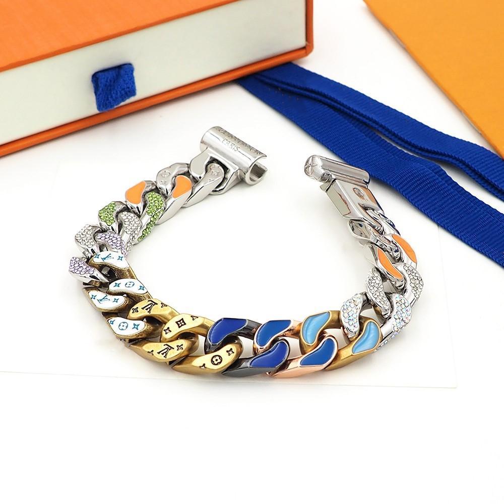 Лучшие браслеты продажи моды цвета дизайнер браслеты роскоши дизайнер ювелирных мужские