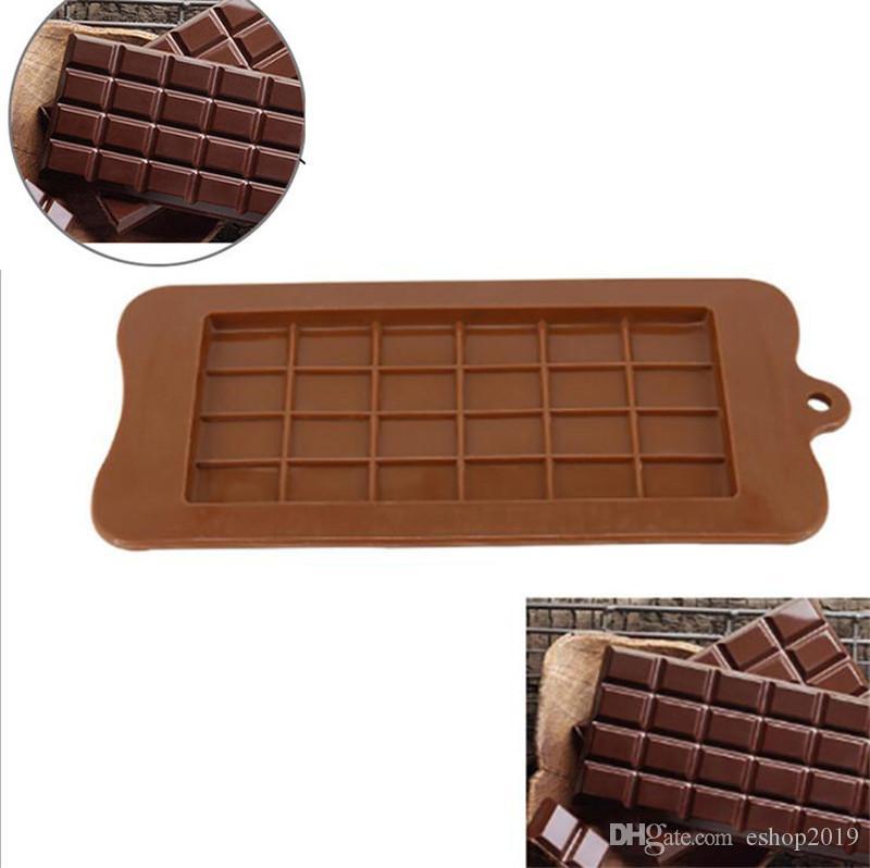 24 شبكة DIY ساحة قالب الشوكولاته قوالب السيليكون كتلة حلوى بار كتلة الجليد سيليكون كعكة حلوى السكر الخبز قوالب
