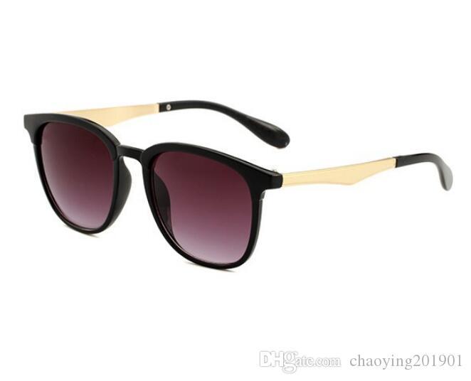 브랜드 남성 빈티지 광장 선글라스 렌즈 안경 액세서리 남성 태양 안경 남성 여성 악어 4278