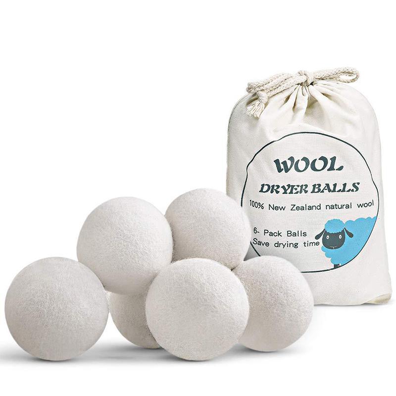 7cm Yeniden kullanılabilir Çamaşır Temizlik Topu Doğal Organik Çamaşır Yumuşatıcı Topu Premium Organik Yün Kurutucu Toplar