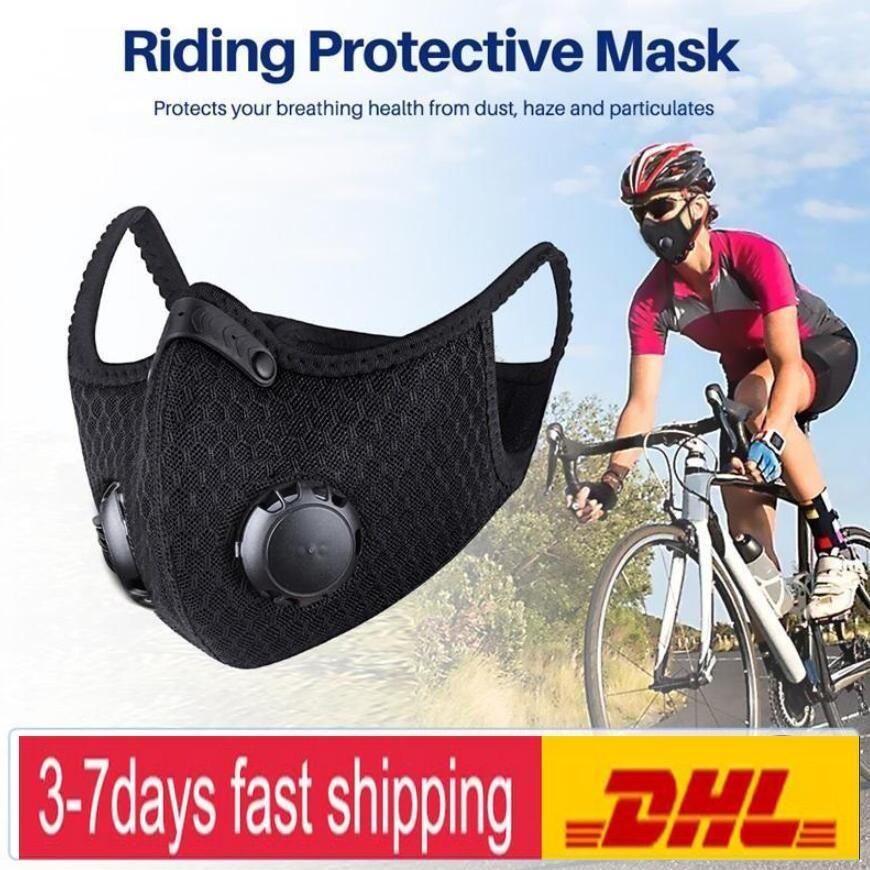 Máscara facial de los EEUU Stock ciclo de carbón activado con el filtro de PM 2.5 Anti-Contaminación Deporte de Tapas de Formación del camino de MTB Bike protección contra el polvo