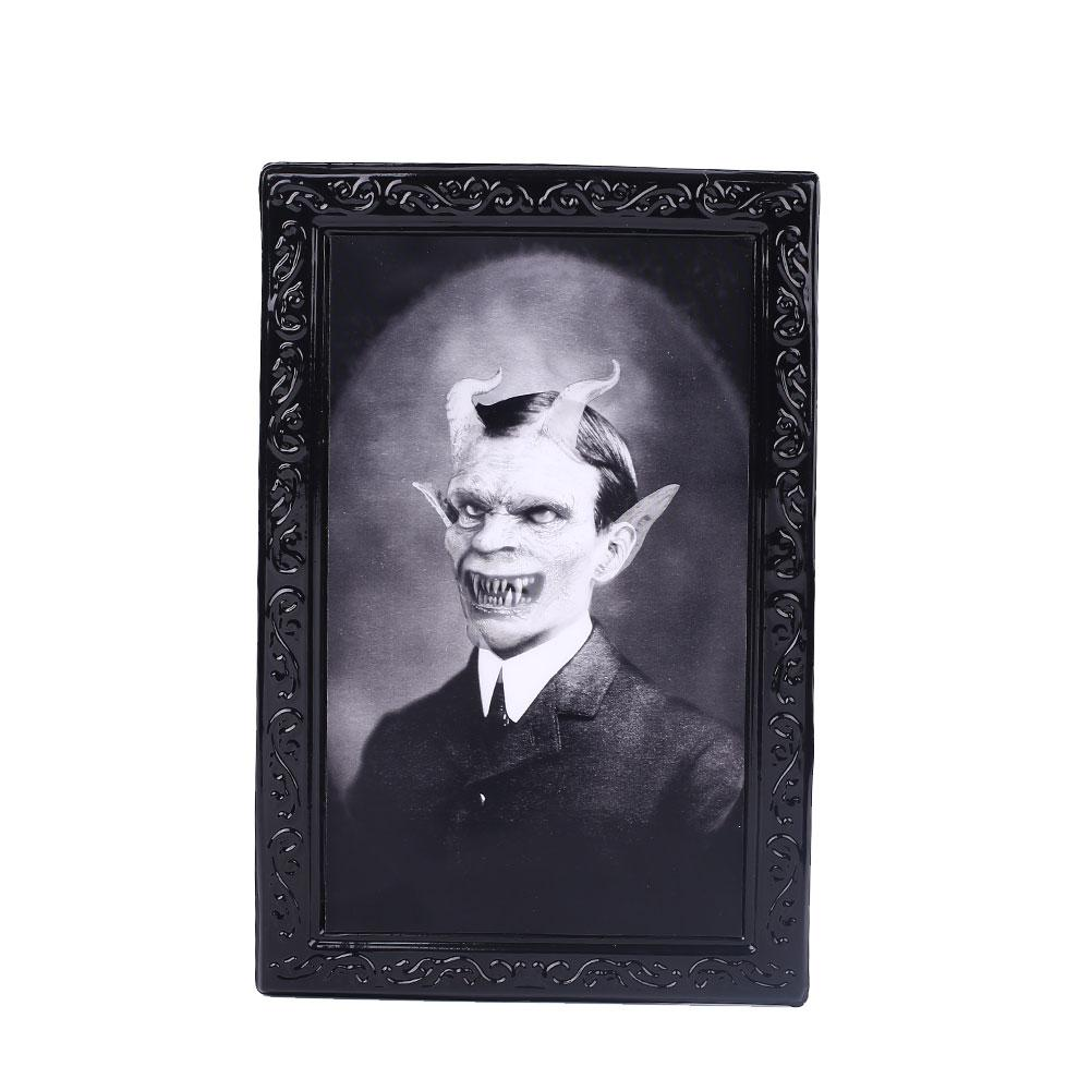 Halloween 2020 Photo Frame With Bow 2020 Halloween Horror Ghost Frame 3D Ghost Picture Frame Halloween