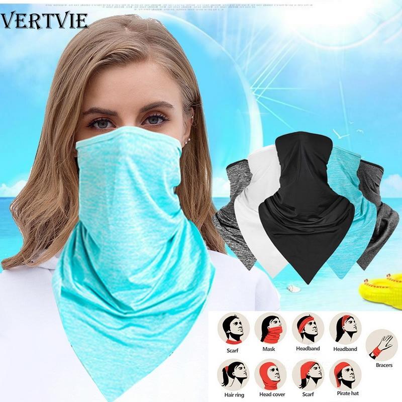 VERTVIE Велоспорт Спорт шарф открытый шеи ручной банданы кемпинг шарфы мульти Funtion пылезащитный езда солнцезащитный крем банданы шарф