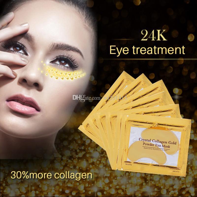 كولاجين الذهب قناع العين قناع الوجه مكافحة الدوائر السوداء مكافحة الشيخوخة بقع العين لرعاية العين كريم ترطيب