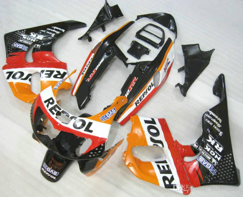 Top Red Black Fairing Kit voor HONDA CBR900RR 893 96 97 CBR 900RR 1996 1997 CBR 900 RR-FUNDINGS SET