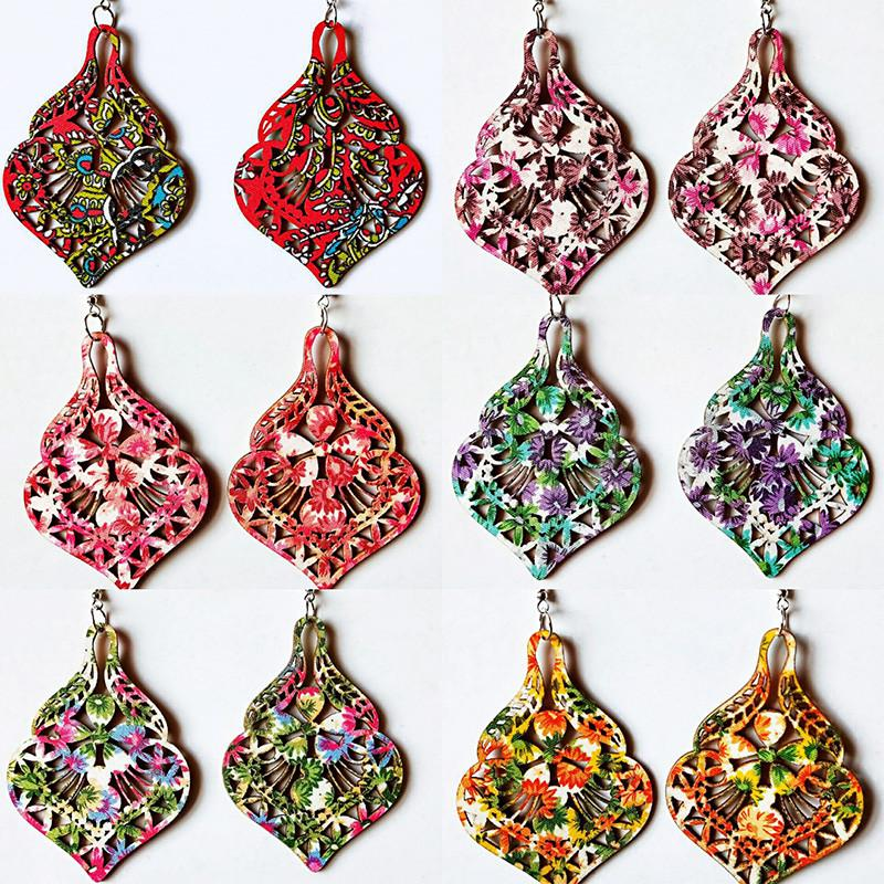 Ornamenta Fashion Gold Lightweight Beaded Hook Dangler Earrings with Charms For Girls