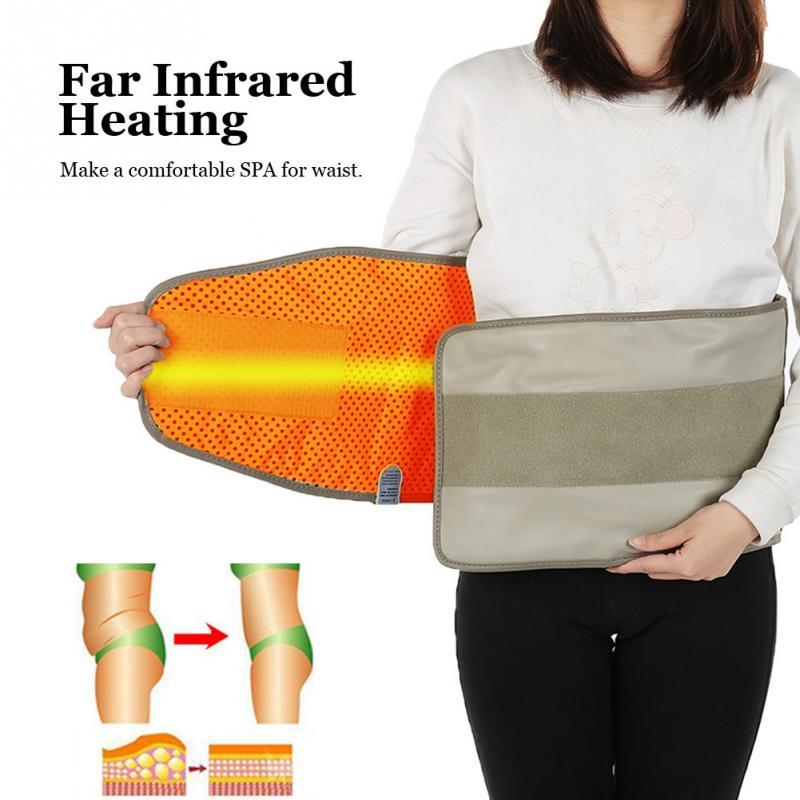 Hot Compress Far Infrared Heating Slimming Belt Vibrating Weight Loss Massager Fitness Device Massage EU US Plug