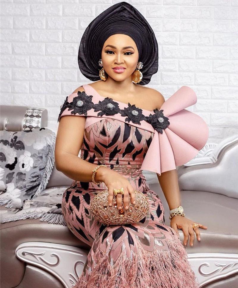 Персик Вышитые Brocade кружева для свадебного платья высокого качества Африканский французский Тюль Кружево нигерийской ткани 5yards NA2918B