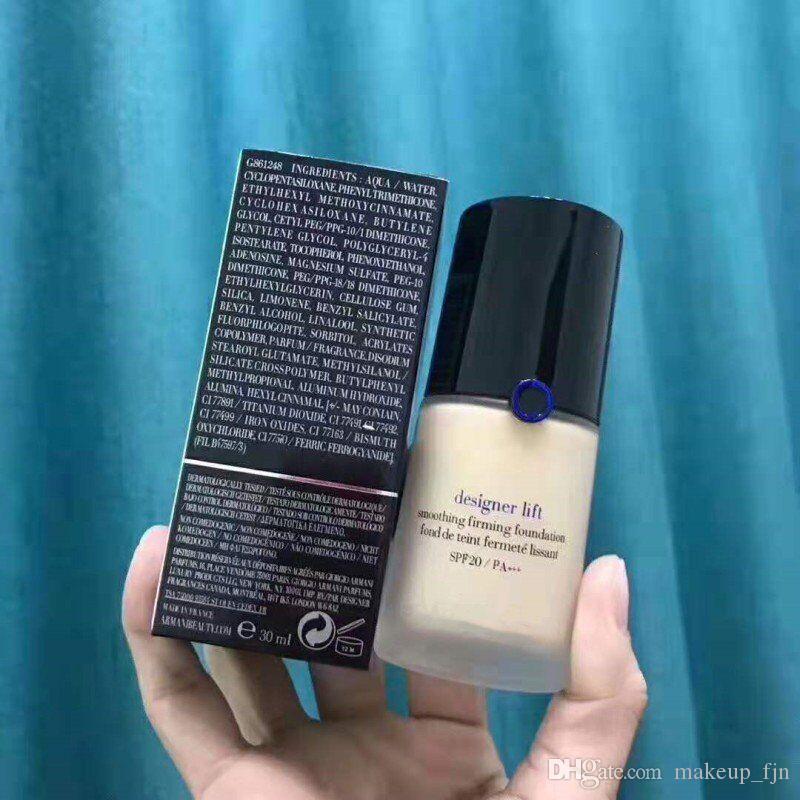 حار بيع العلامة التجارية GIORGIO الوجه ماكياج مصمم رفع maquillage السائل الأساس ماكياج تجانس وثبات الألوان مؤسسة 2 # 3 # 4 # NW30ml