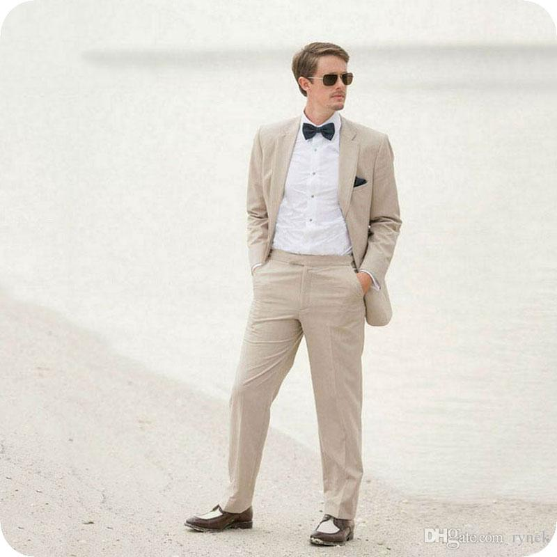 Latest Coat Pant Designs Linen Men Suits for Wedding Casual Groom Tuxedos Smart Groomsmen Blazer 2Piece Costume Homme Slim Bridegroom Jacket