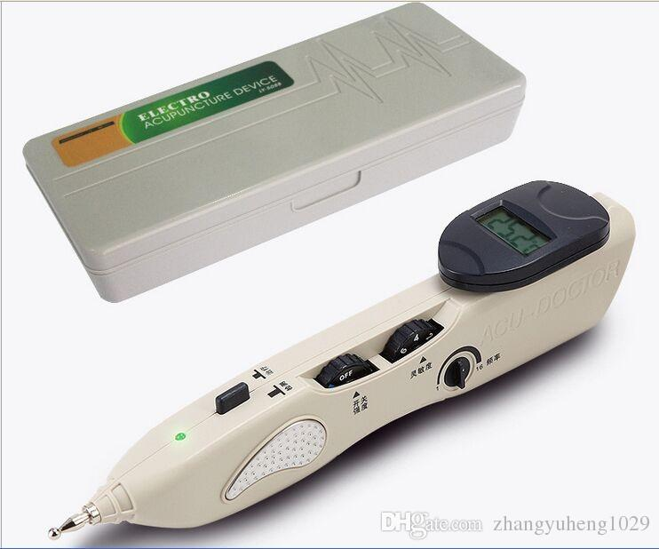Digital Electronic Acupuncture Device Massage Pen Pointer With Reflux Stick Activate Meridian Pain Relief Durable