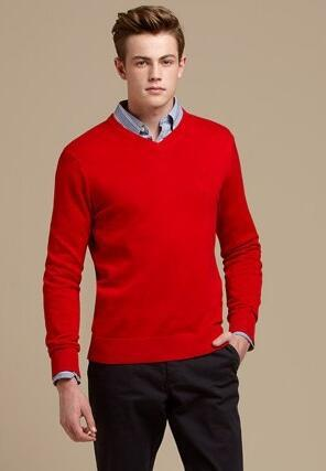 2019 Men Solid Sweaters Autumn Winter Warm American Style Pullover Classic  Knitted Sweater Man Casual Knitwear Black Red Size M XL From Polo_mart,
