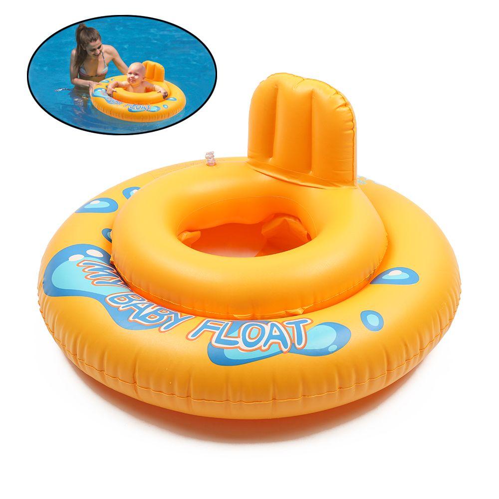 Rodada Verão Crianças Bebê Flutuador Piscina 2 Círculos Hollow Swim Seat Ring Dos Desenhos Animados Flutuante Piscina