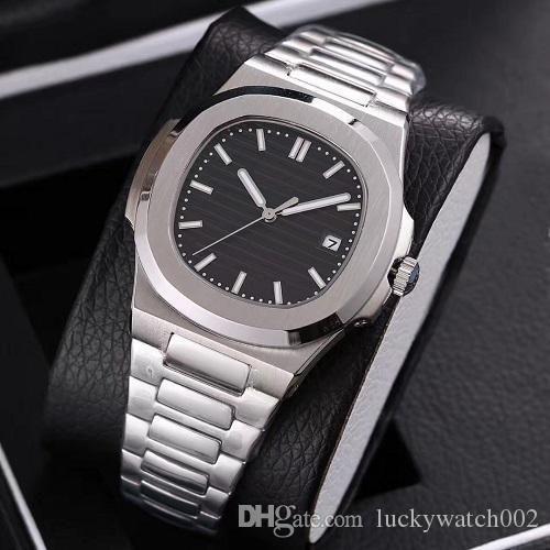 Venta caliente Nautilus Watch Men Relojes automáticos 5711 Silver Strap Blue Shoodless Mens Mecánico Orologio di Lusso Reloj de pulsera Fecha