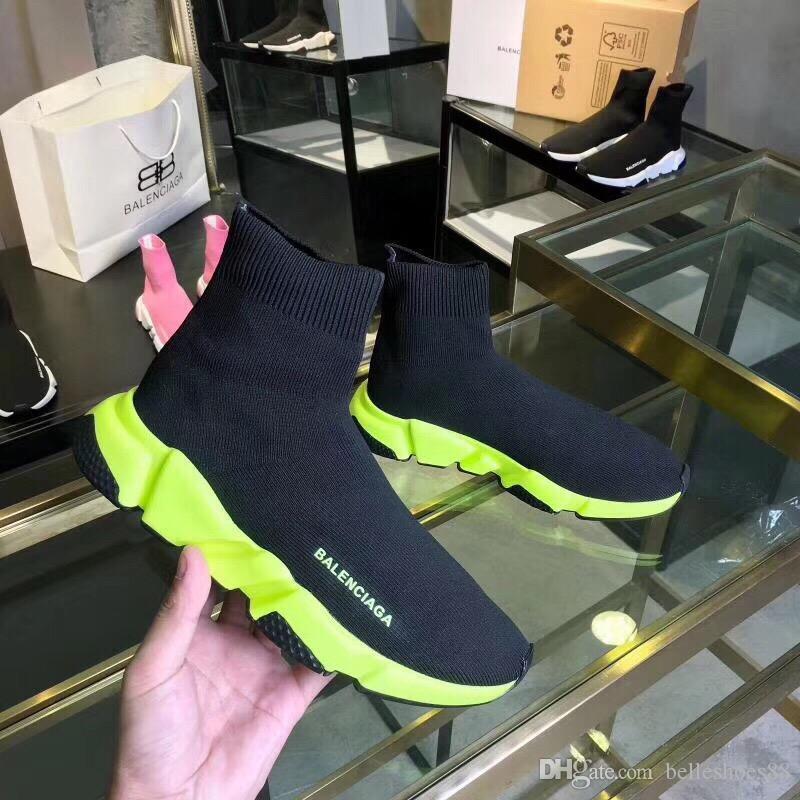 Мода мужская и женская баскетбол футбол кроссовки платформа папа открытый тренировочные ботинки роскошные женские трикотажные шить носки обувь