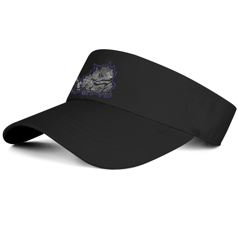 TCU Horned Frogs calcio vecchio Stampa logo unisex di baseball tennis cappello design fresco personalizzato tappo originale Mesh Effetto bandierina logo grigio di marca