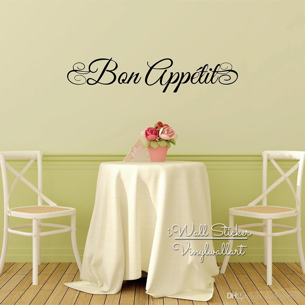 Fran/çais Bon Appetit Autocollant Vinyle Stickers Muraux pour Cuisine Salle /À D/îner Maison Art D/écoration