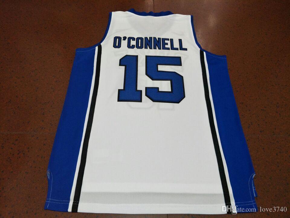 Özel erkekler Gençlik kadın Vintage # 15 Alex O Connell Duke Mavi Şeytanlar Koleji Basketbol forması boyutu S-4XL veya özel herhangi bir isim veya numarası jersey