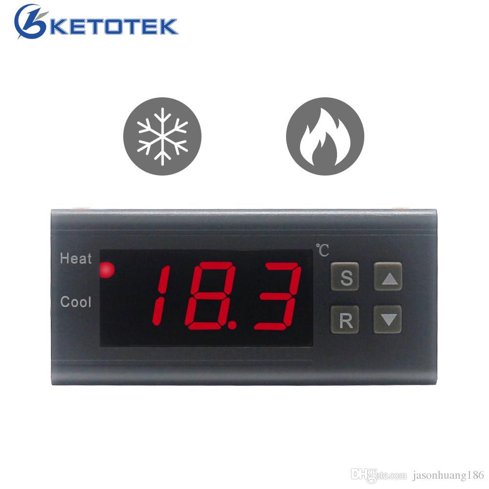 Mini AC10A 220V Digital Temperaturregler Thermostat Reuterator 40 ~ 120 MENIGRATE LED Thermoelement NTC Sensor Aquarium