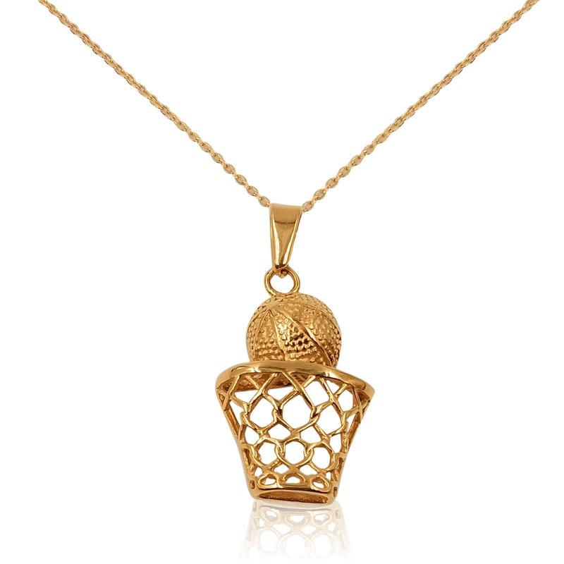 gold Hip hop jewelry rock necklace sport Basketball net chain travel chain for sport men necklace jewelry making