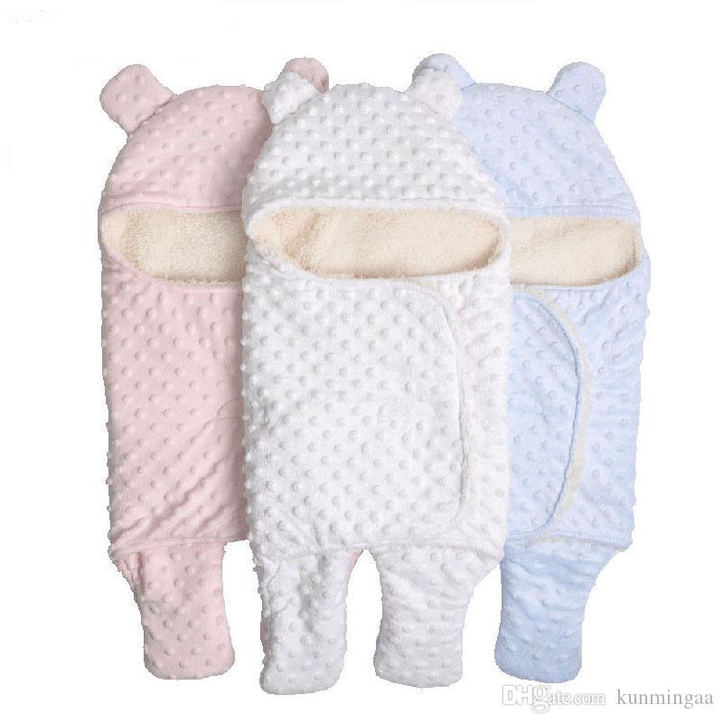 Coral Fleece Infant Swaddle Passeggino Avvolgere Per Neonato Coperte Biancheria Da Letto Inverno Addensare Velluto Coperta Del Bambino Swaddle