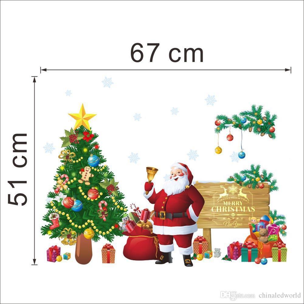 Christmas Tree Snowman Home Vinyl Window Wall Stickers Home Decor Wall Sticker