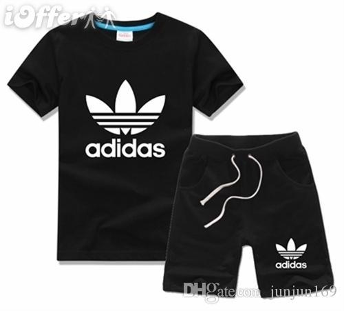 새로운 패션 사진 브랜드 어린이 세트 어린이 티셔츠와 반바지 바지 어린이 Tracksuits 어린이 스포츠 정장 2 개 세트