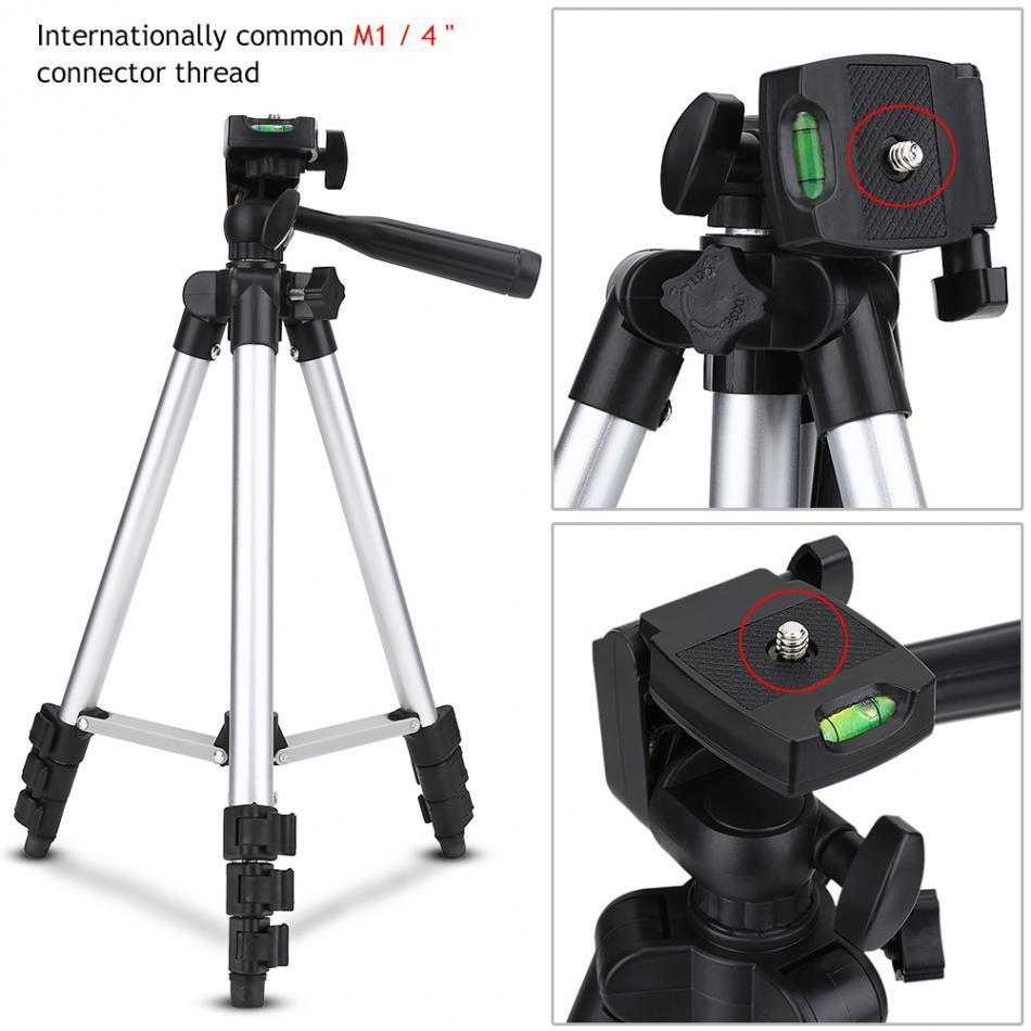 3110 Tripod Ayarlanabilir Taşınabilir Ölçeklenebilir Pan Kafa Tripod Dağı Braketi Tutucu Akıllı Telefon için Kameralar DSLR Kamera için Standı