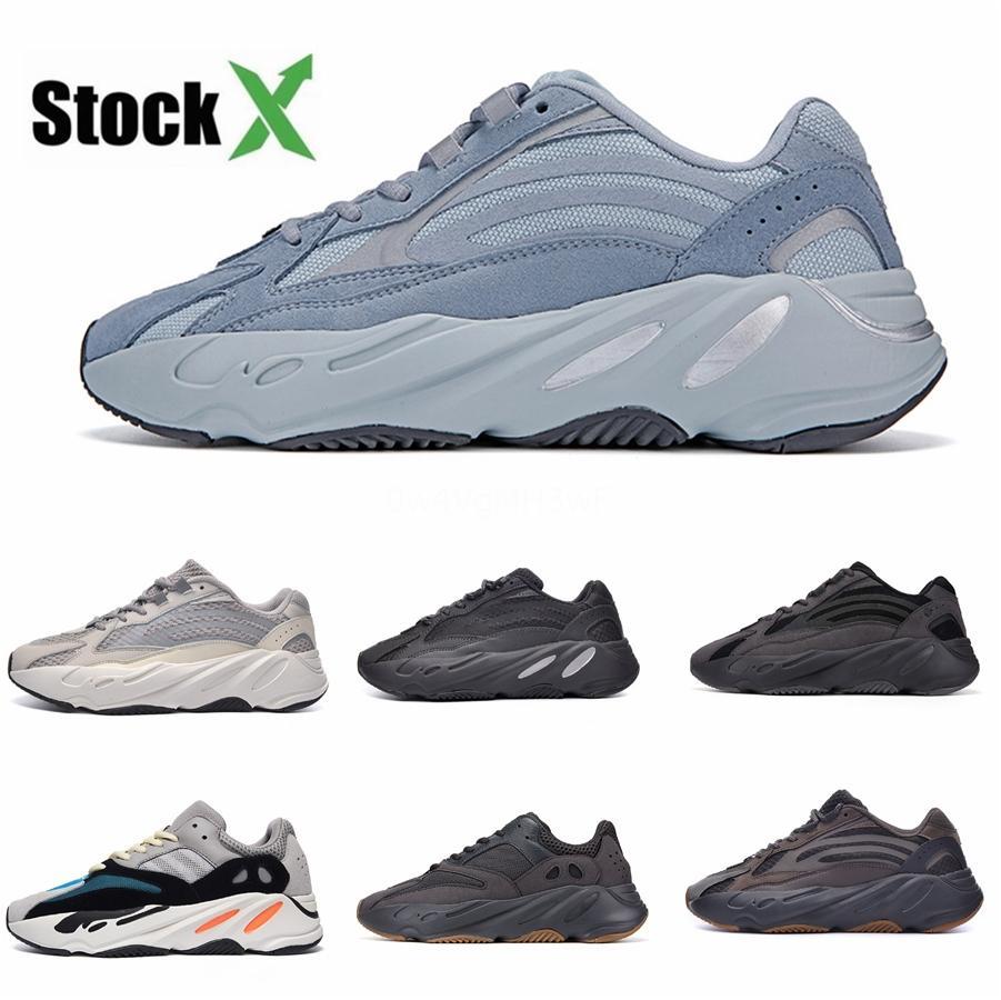 Cheaps 700 V3 Kanye West Bay Bayan Koşu Ayakkabı Beyaz Siyah 2020 Toptan Karbon Tasarımcı 700S Ayakkabı Runner Doğa Sporları Sneakers # DSK736