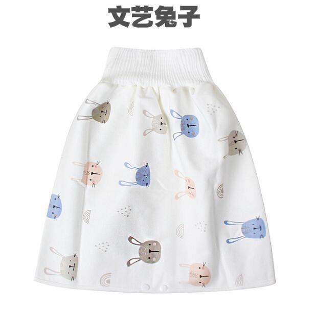 Baby diaper skirt artifact baby child diaper training leak-proof waterproof washable cotton urine-proof bed cloth diapers