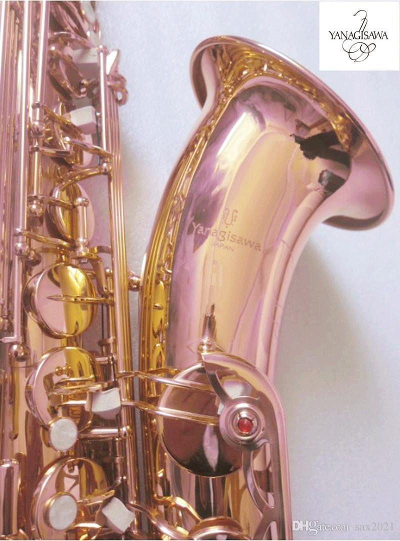 2021 Новая Япония Yanagisawa T-902 Тенор Саксофон Высокое Качество Япония Золотой Лак Тенор B Плоские саксофонные инструменты Латунь Саксофон с корпусом