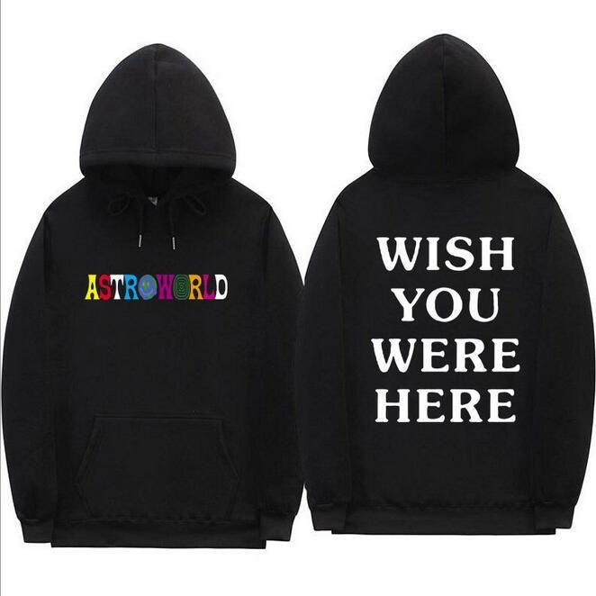 Travis Scott Astroworld VOUS SOUHAITEZ ÊTRE ICI hoodies streetwear à capuche streetwear homme et femme Sweat-shirt