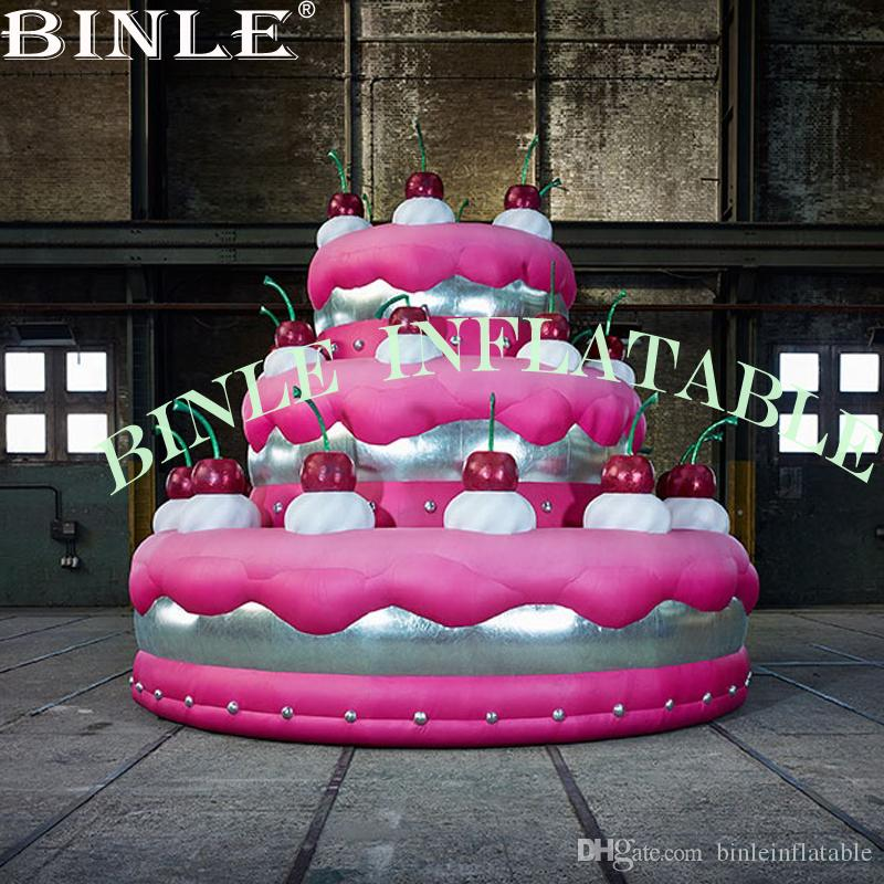 Awesome 2020 Customized Pink Giant Inflatable Birthday Cake Model Balloon Birthday Cards Printable Inklcafe Filternl