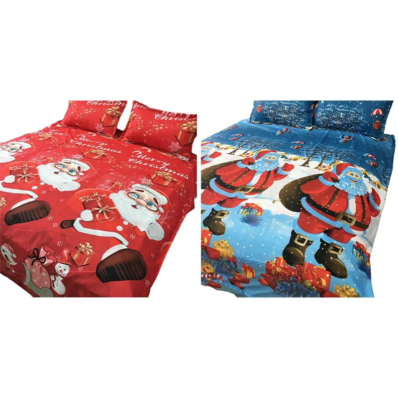 뜨거운 새 침구 세트 조각 이불 덮개를 아버지는 크리스마스 배 침대 이불 다채로운 가득 차있는 왕왕 빨간