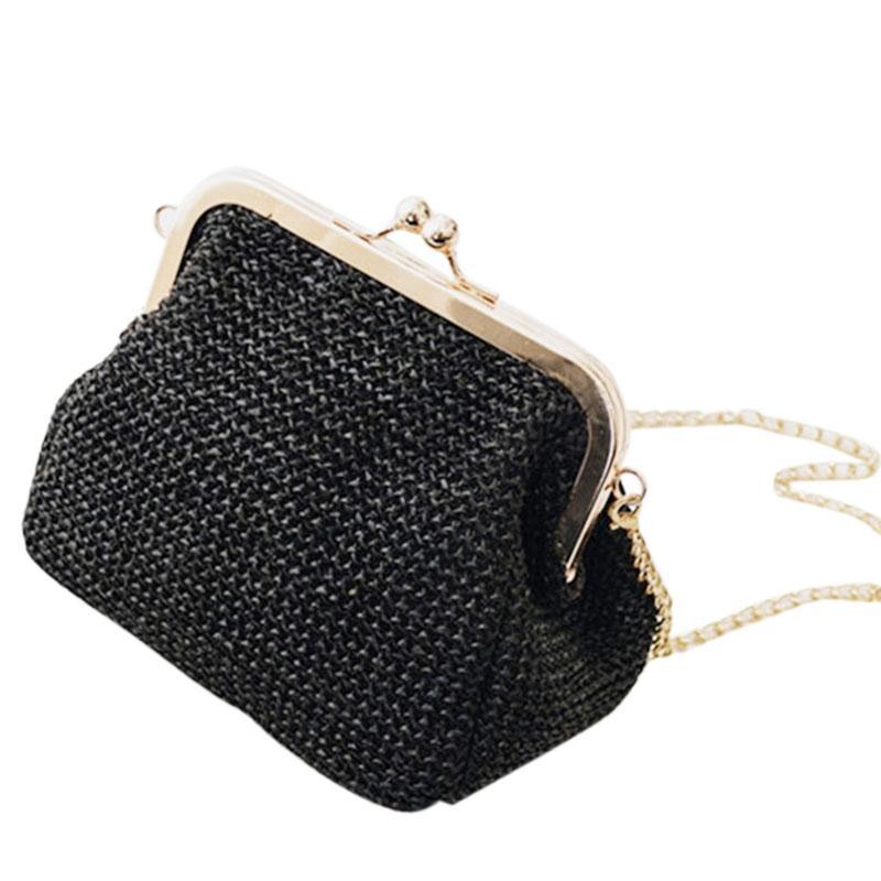 Kadınlar Akşam Debriyaj Çantalar Hasp Bayanlar Çanta Kadın Straw Plaj Rattan Kadınlar Messenger Bag İçin Küçük Crossbody Boho Çantalar