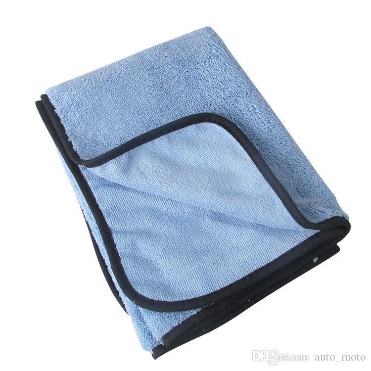 Hohe qualität saugfähige auto waschen mikrofaser handtuch auto reinigung trocken tuch große größe hemming auto pflege tuch detailierung handtuch