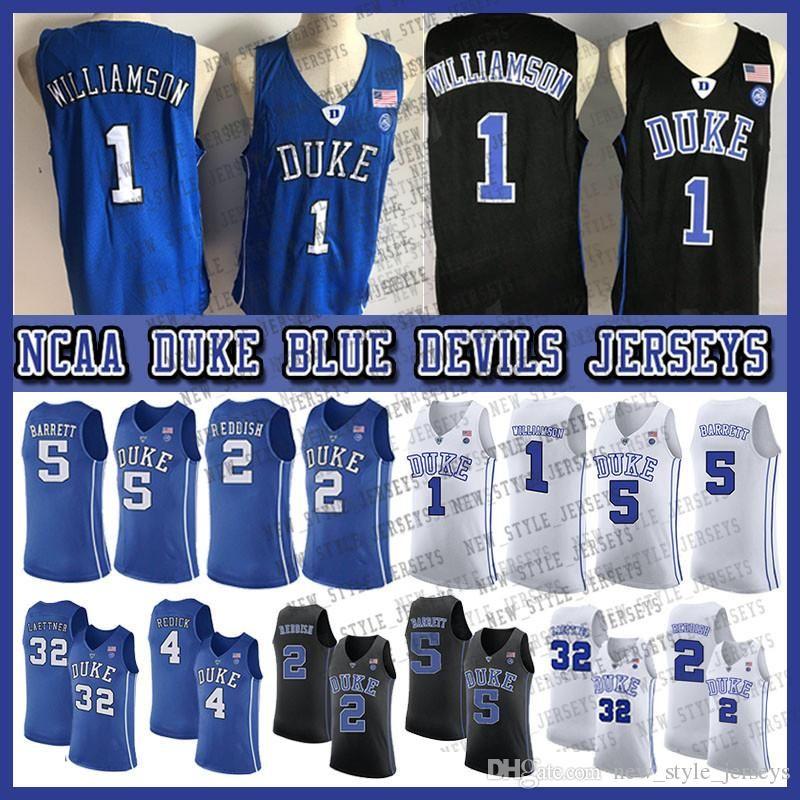 1 Zion Williamson Maglia 2019 NCAA Duke Blue Devils maglie 5 RJ Barrett 2 cam Reddish 32 Christian Laettner Sion College Basketball Wears