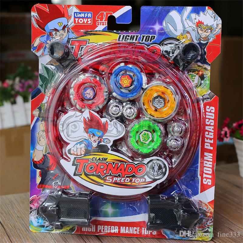 4D TORNADO Speed Top Beyblade Toy Storm Pegasus Alloy Gyro Set Best Funny Toys For Boys Christmas Present