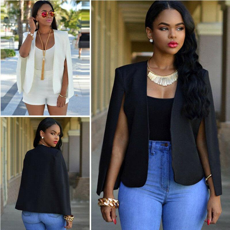 Women/'s OL Work Office Lady Long Sleeve Casual Blazer Suit Jacket Coat Outwear