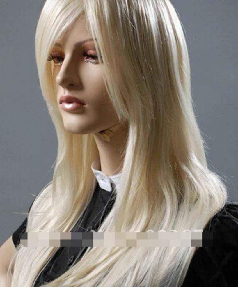 WIG LL<<< 002201 Blonde Spike Long Cosplay Party Costume Women Wig 67cm Party New Sexy lady Stylish Great Health wigs