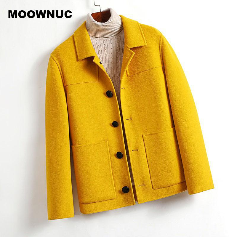 MOOWNUC Männer 2020 neue Ankunftswinterdoppelseitige Wollmantel Art und Weise fester Trenchcoat Männer hochwertige beiläufige Wolljacken