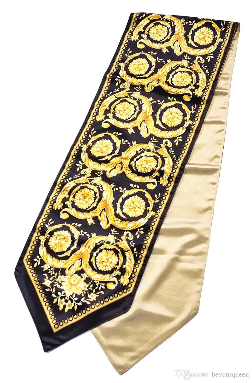 European Baroque Jacquard Designer Medusa Table Cloth Velvet Luxury Table Runner Home Hotel Interiors Creative Decor High Quality Bed Linens