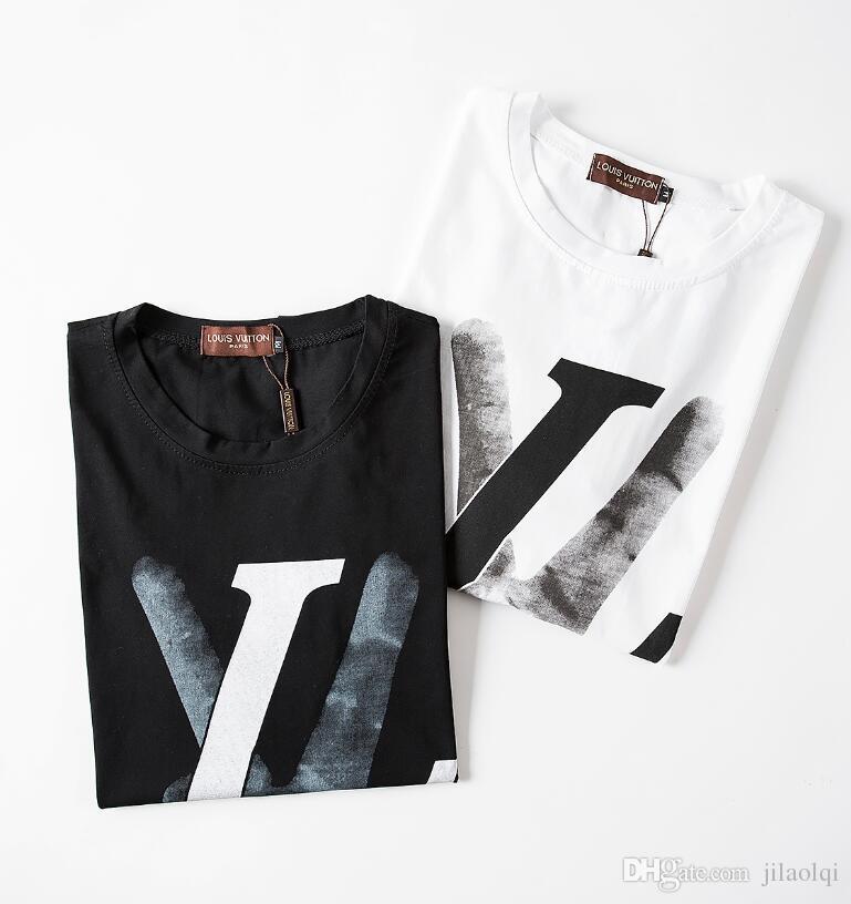 Летняя футболка Топ-дизайнер Мода Мода Удобная футболка Бесплатная доставка # 1125