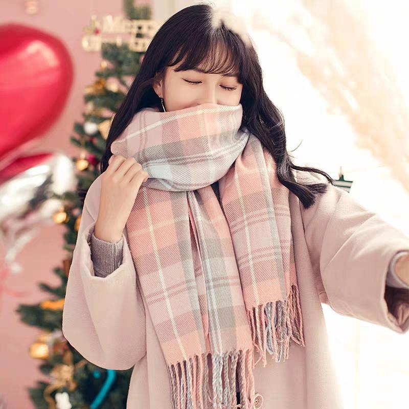 inverno da menina cachecol Outono versão coreana do amor coringa estudantes bonito instagram pequena senhora verificação japonesa lenço