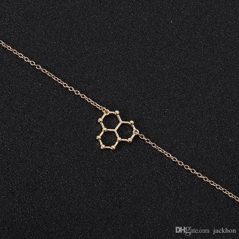 Compre 30 Unids Ice Hydro Water H2o Molécula Estructura Pulsera Ciencia Geométrica Química Hormona Fórmula Dopamina Molecular Pulseras Brazaletes A