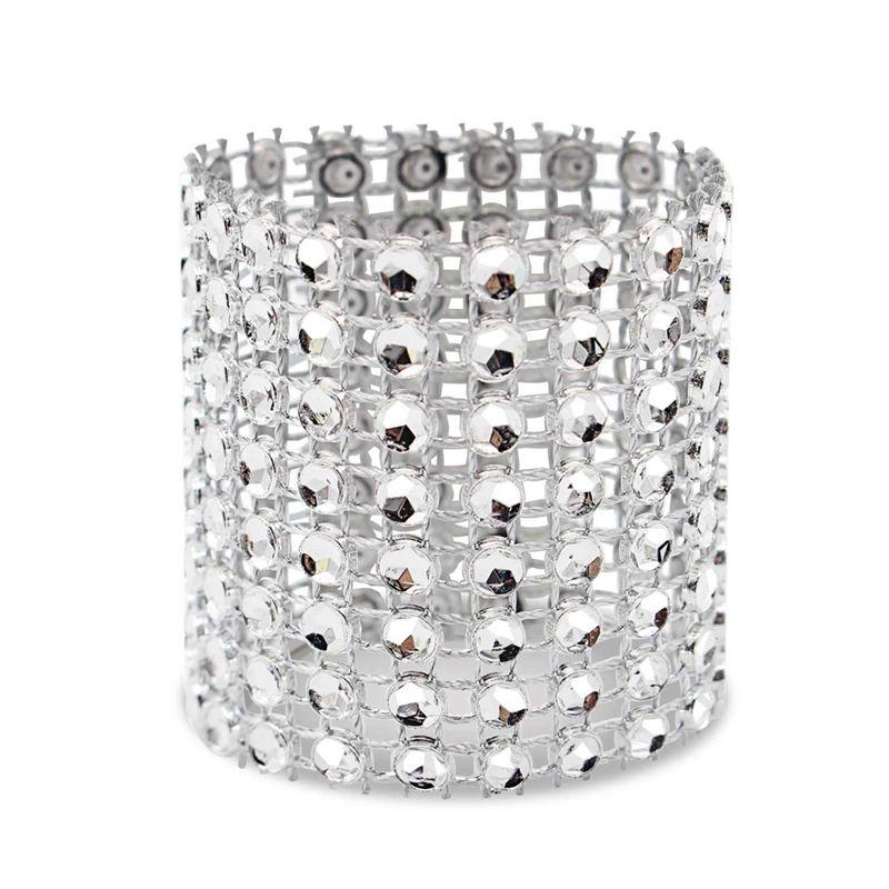 Portatovagliolo, 120 parti della portatovagliolo decorazione del diamante, adatti per il posizionamento, Ricevimento di nozze, la cena o festa del partito, F