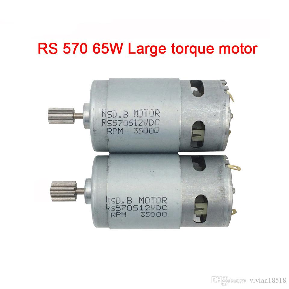 65W high torque 12v dc motor for children electric car,Faster and torque greater 570 motor,electric motorcycle high power engine
