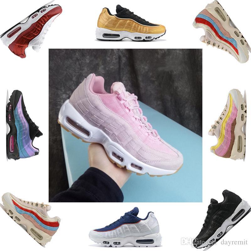 2019 nuevos hombres Cushion 95 OG Sneakers Boots Auténtico envío directo al por mayor Zapatillas para correr 95s New Walking Discount Sports Shoes