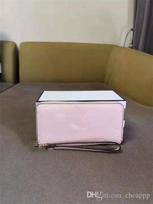 Markendesigner Mappen für Frauen Geldbörsen Clutch-Taschen PU-Kartenhalter Reißverschluss mit Kasten langen Stil