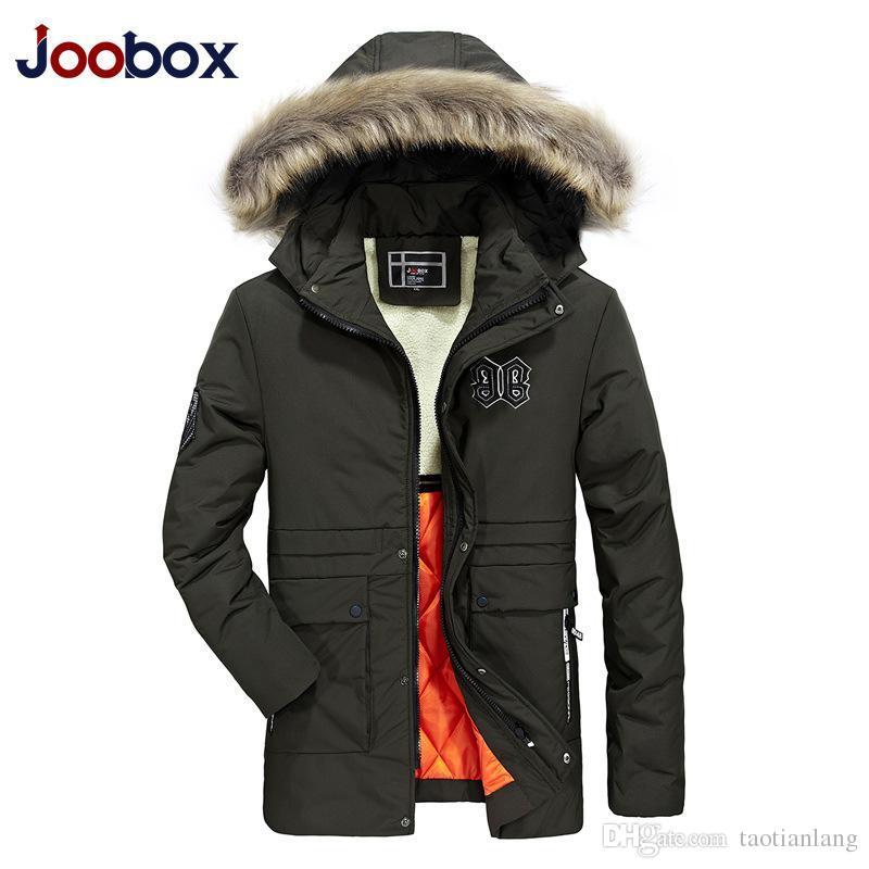 Mens Designer casacos de inverno Hoodies Down Jacket luxo Brasão Thicken Aqueça Black Zipper Pockets Casual Marca Doudoune Homme DHL J1906156